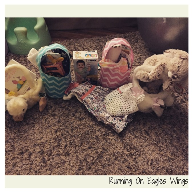 Running On Eagles Wings - Easter Baskets full of goodies on Easter Morning