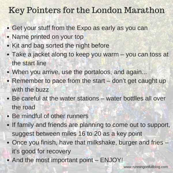 London marathon first timers