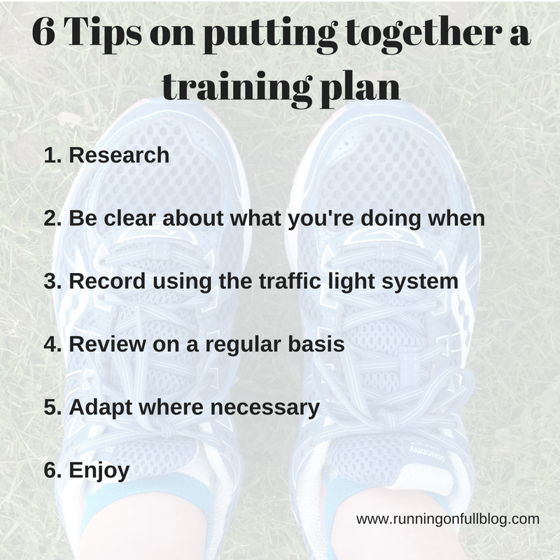 6 Tips for your training plan | Running on Full