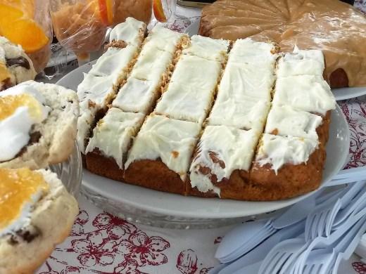 Sweet potato cake - the finished product
