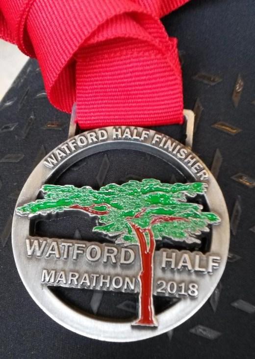 Watford Half medal