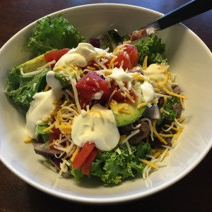 Easy Weekday Taco Salad | Meatless Monday | Running on Happy