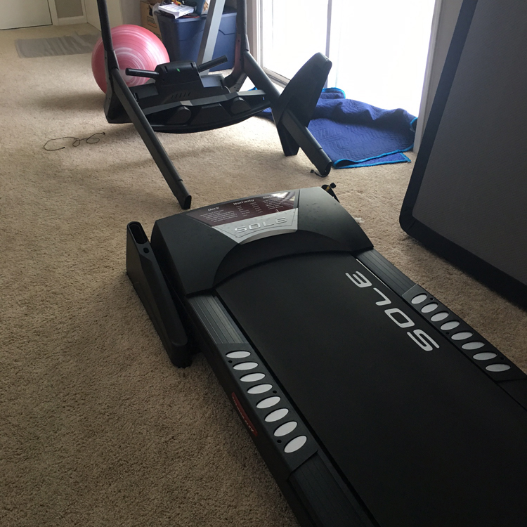 Treadmill in pieces