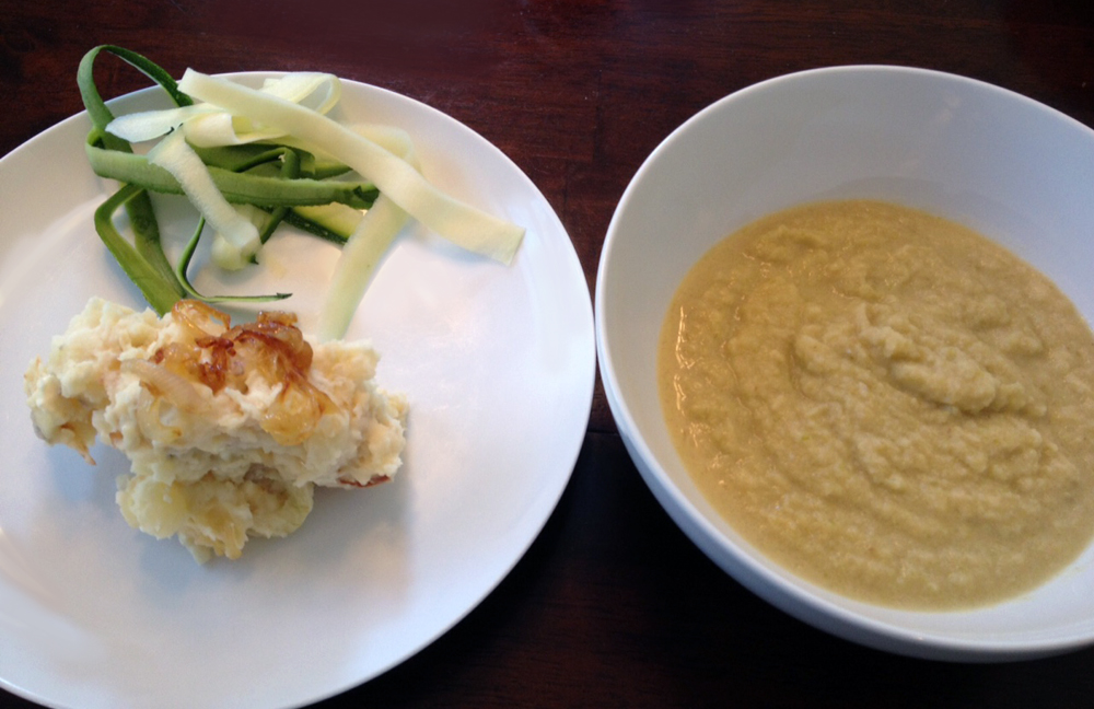 Roasted Cauliflower Leek Soup packs a nutritional punch. Perfect for warming up on cold days and fueling your body for tough workouts. Plus, it's gluten-free and vegan! -Running on Happy