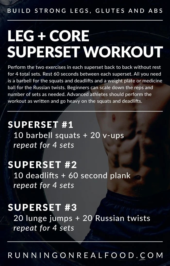Leg and Core Superset Workout