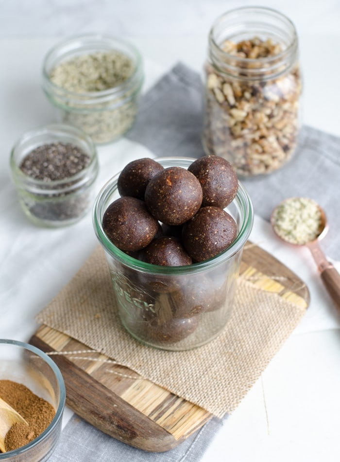 Chocolate Energy Balls with Chia Seeds - Running on Real Food