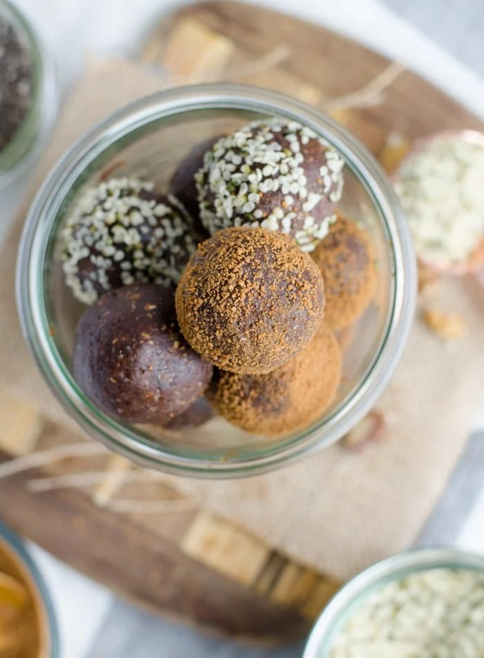 Healthy Chocolate Energy Balls with Chia Seeds - Running on Real Food