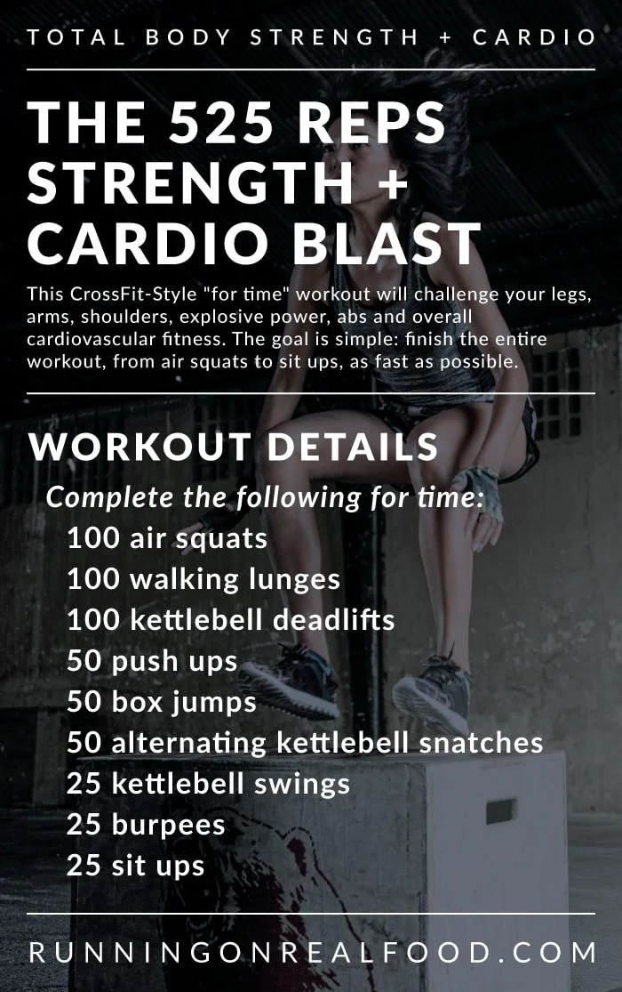 CrossFit-Style Total Body Strength and Cardio Workout