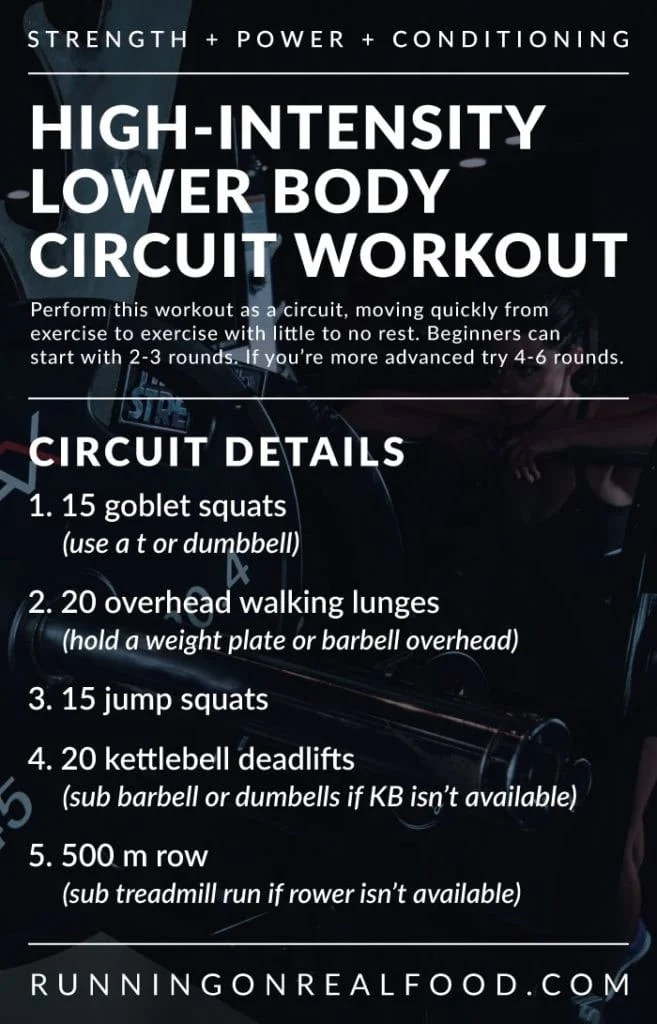 High-Intensity Lower Body Circuit Training Workout