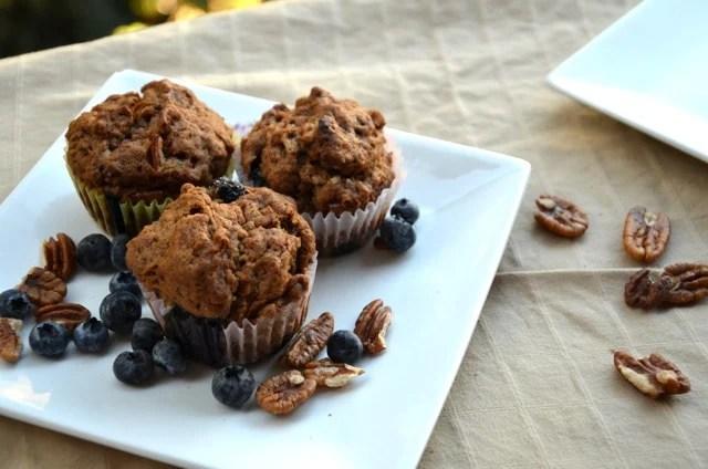 Vegan Blueberry Pecan Muffins
