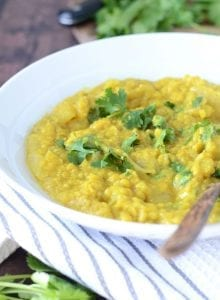 Coconut Red Lentil Dahl - Healthy, Vegan and Super SImple