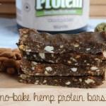 No-Bake Hemp Protein Bars | Running on Real Food