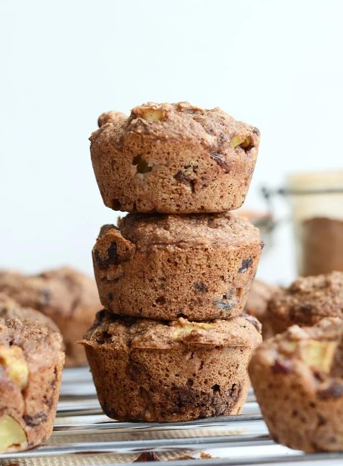 Vegan Apple Cinnamon Muffins with Raisins