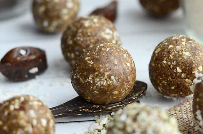 No-Bake Coconut Protein Bites
