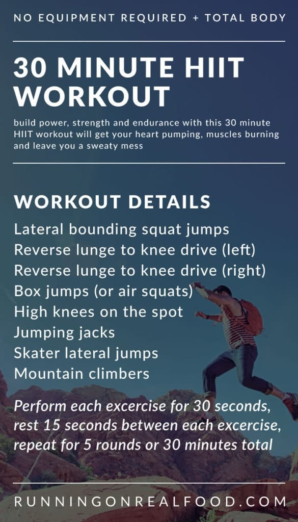 30 Minute HIIT Workout for Total Body Strength and Conditioning