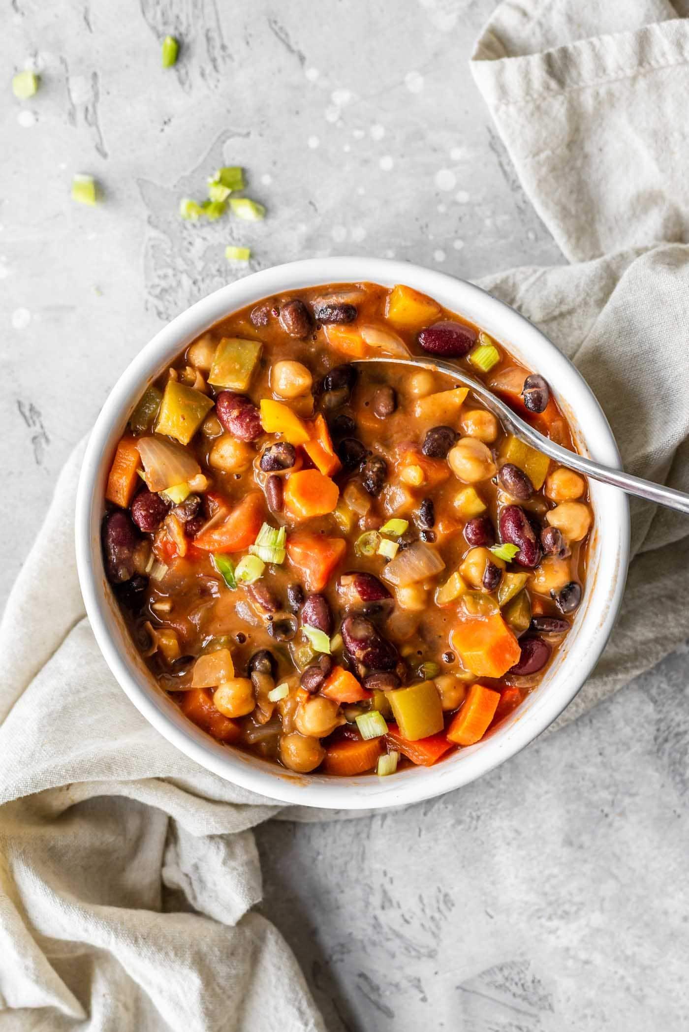Vegan 3 Bean Chili Recipe Running On Real Food