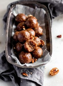 Healthy Vegan Pecan Pie Balls - Running on Real Food