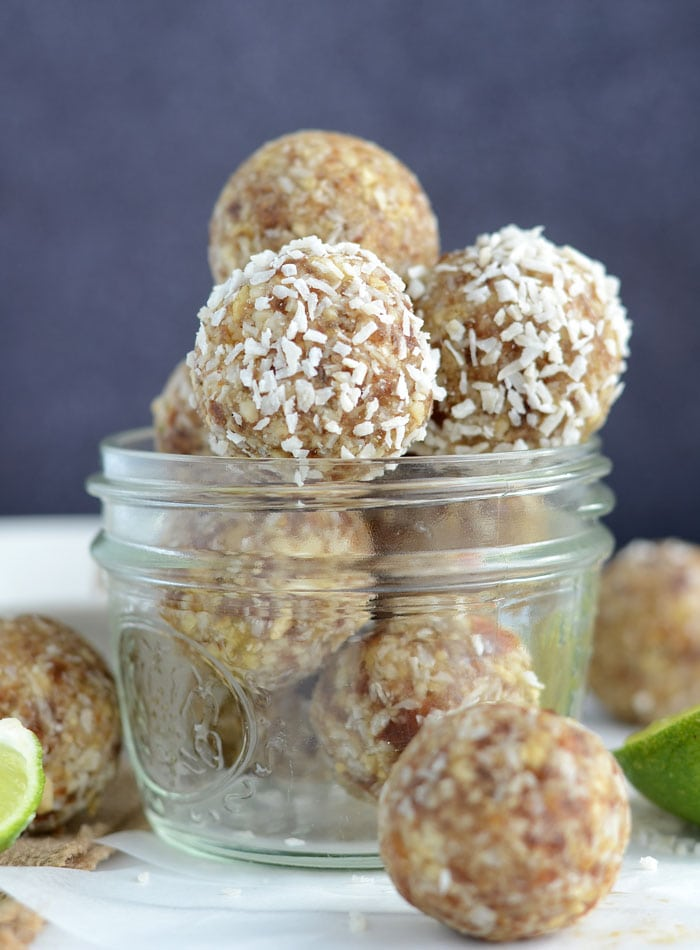 Lime Coconut Energy Bites - Vegan, Gluten-Free, No Added Sugar