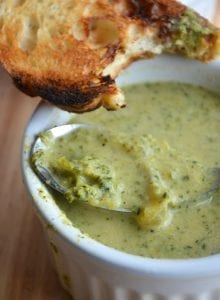 """Cheesy"" Broccoli Soup: The perfect healthy comfort food! Vegan, Gluten-Free"