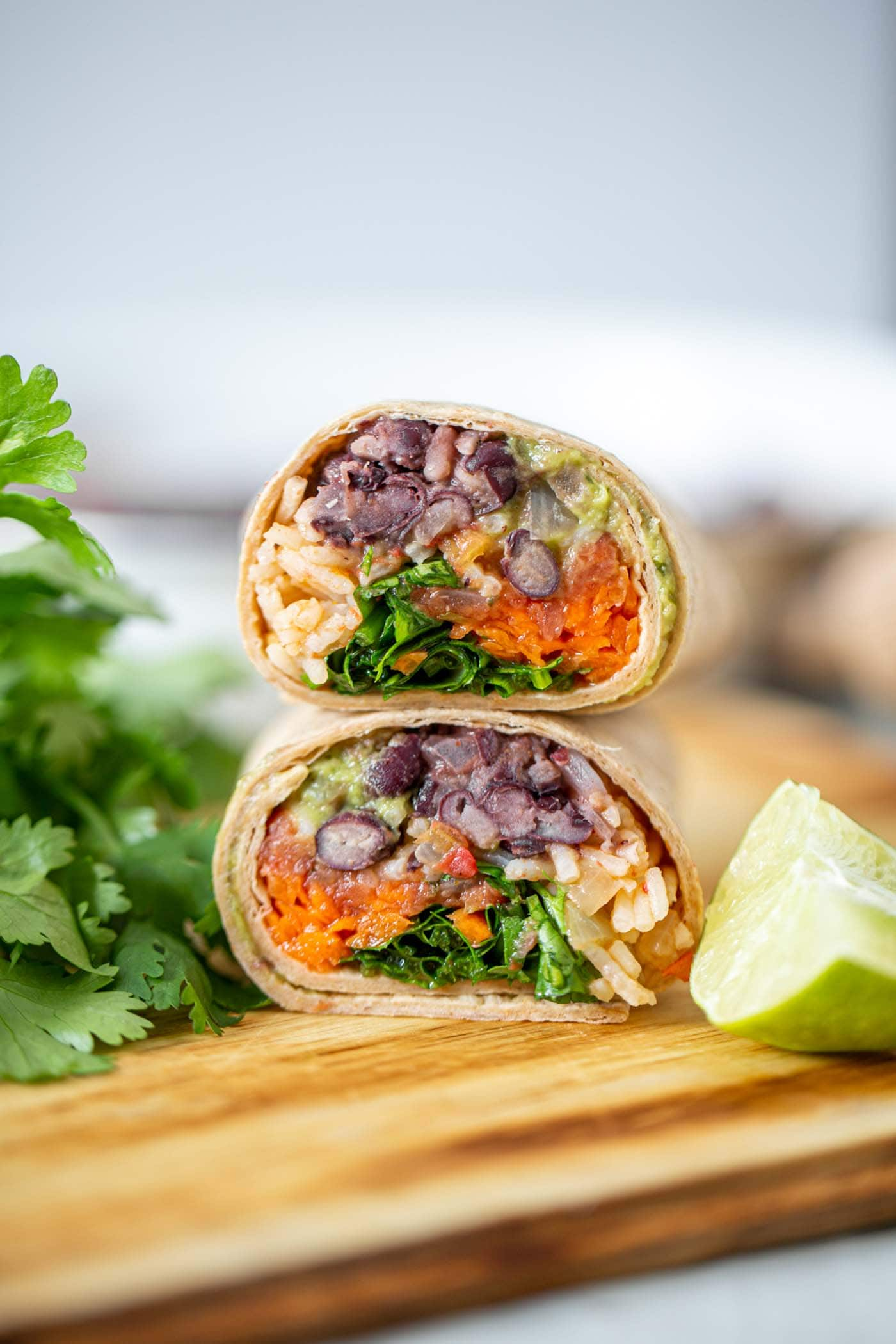 Vegan Black Bean Burritos With Red Rice Running On Real Food