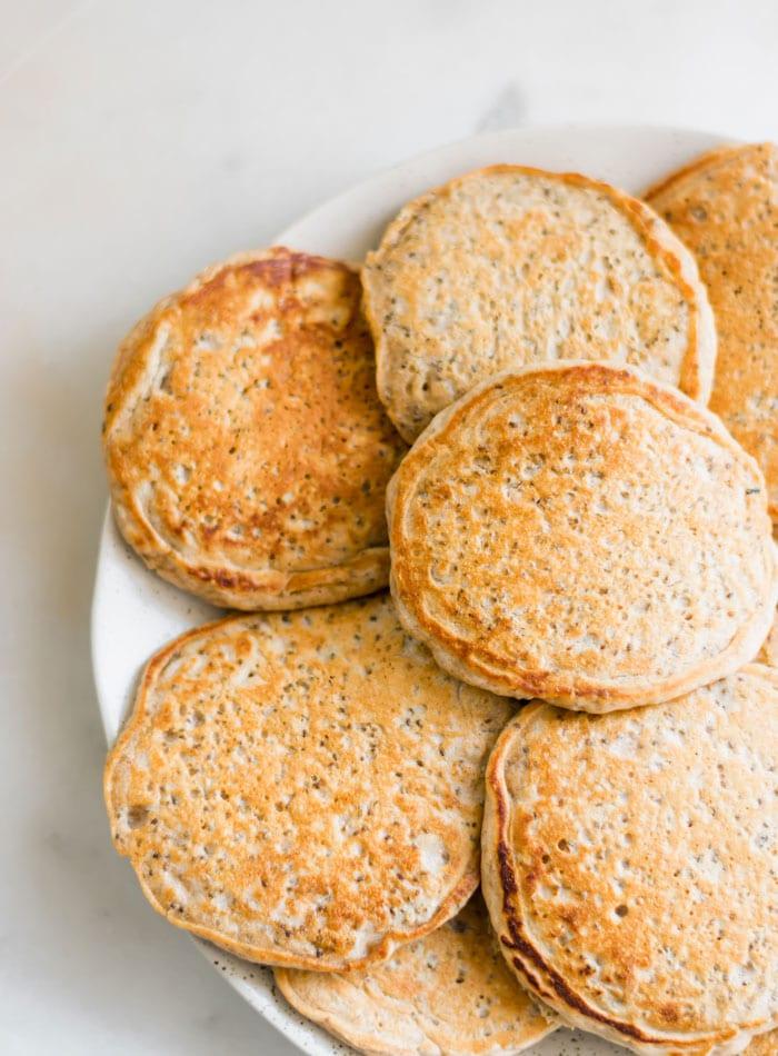 Vegan Chia Pancakes - Running on Real Food
