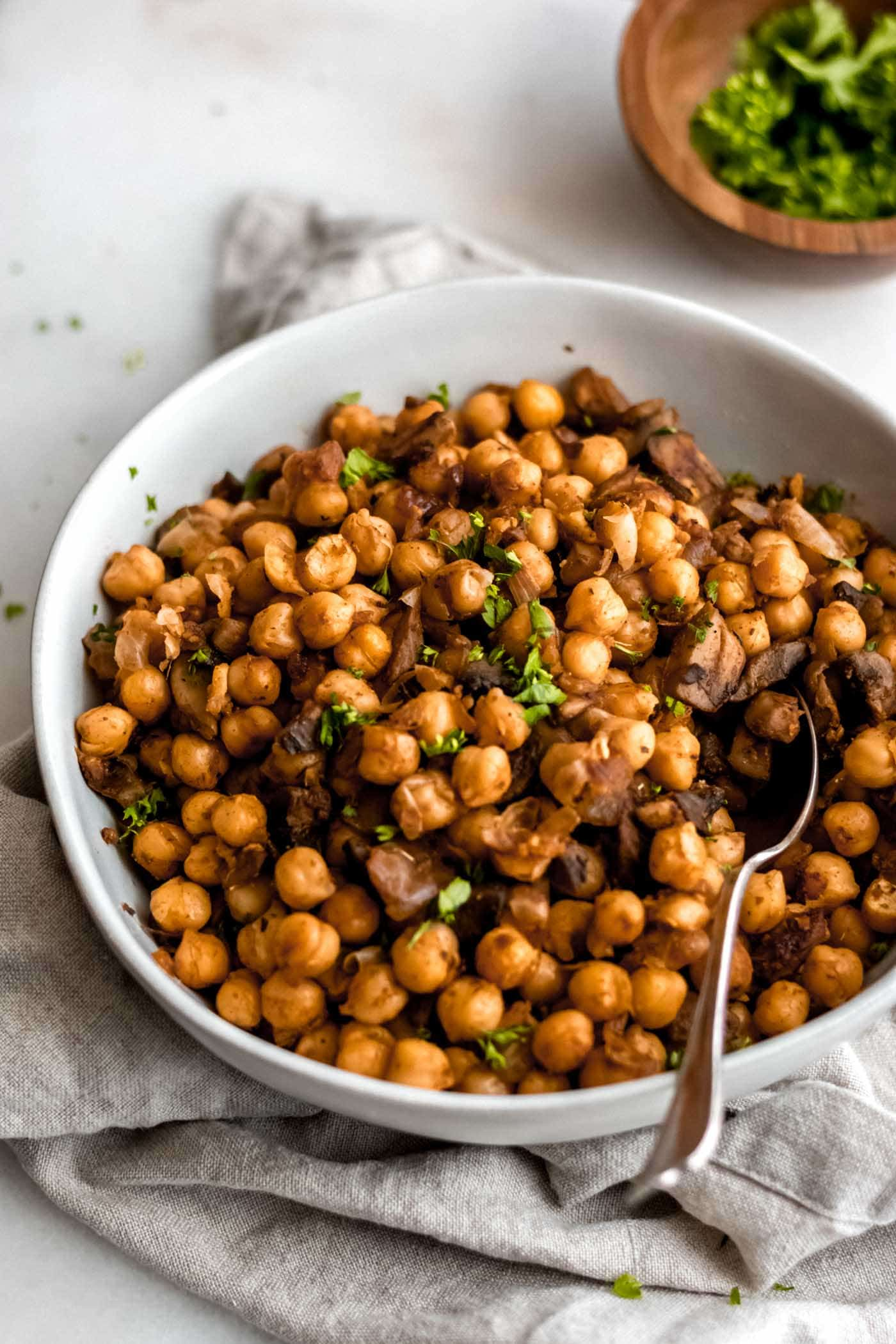 Quick and Easy Spiced Chickpeas