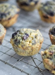 Healthy Vegan Blueberry Chocolate Chip Muffins - Running on Real Food