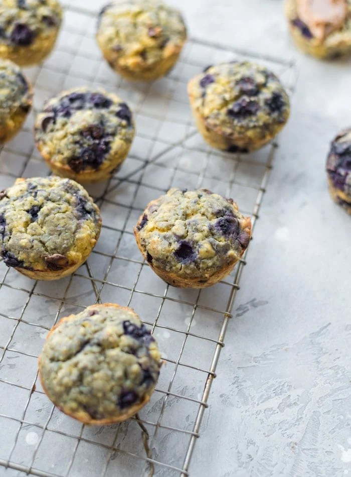 Gluten-free Blueberry Chocolate Chip Muffins - Running on Real Food