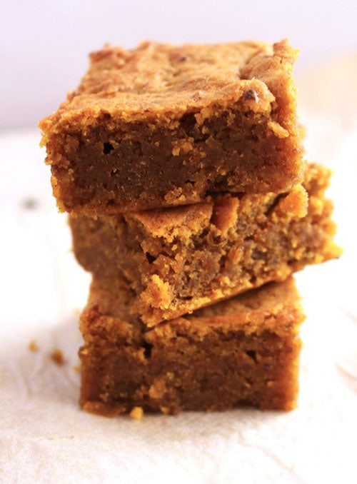 Best Vegan Pumpkin Recipes - Pumpkin Blondies