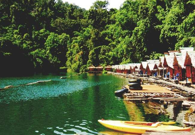 Chiew Lan Lake in Khao Sok National Park, Thailand