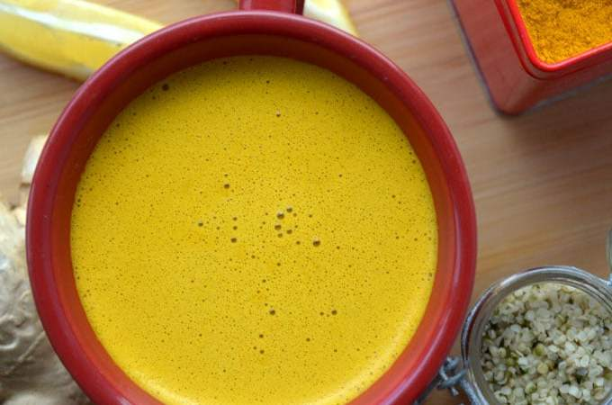 Turmeric Tea Lattes and Simple Turmeric Tea