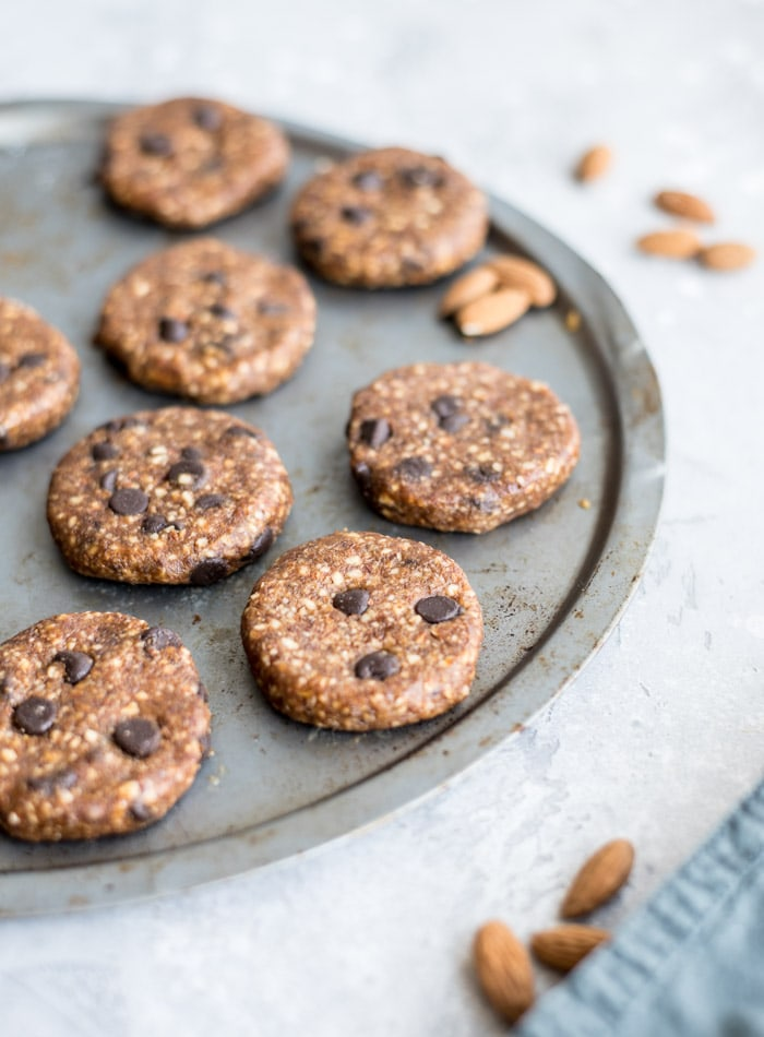 Healthy No-Bake Chocolate Chip Cookies - Running on Real Food