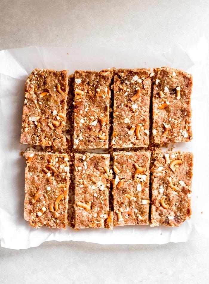 Easy No-Bake Vegan Peanut Butter Pretzel Bars Recipe - Running on Real Food
