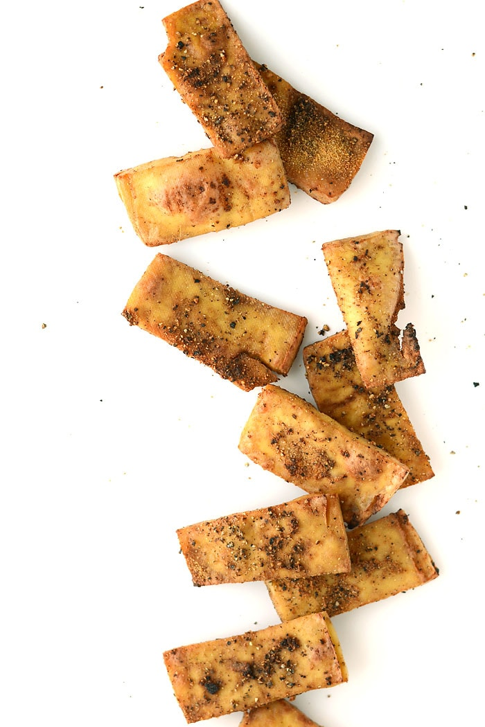 Crispy Baked Garlic Black Pepper Tofu