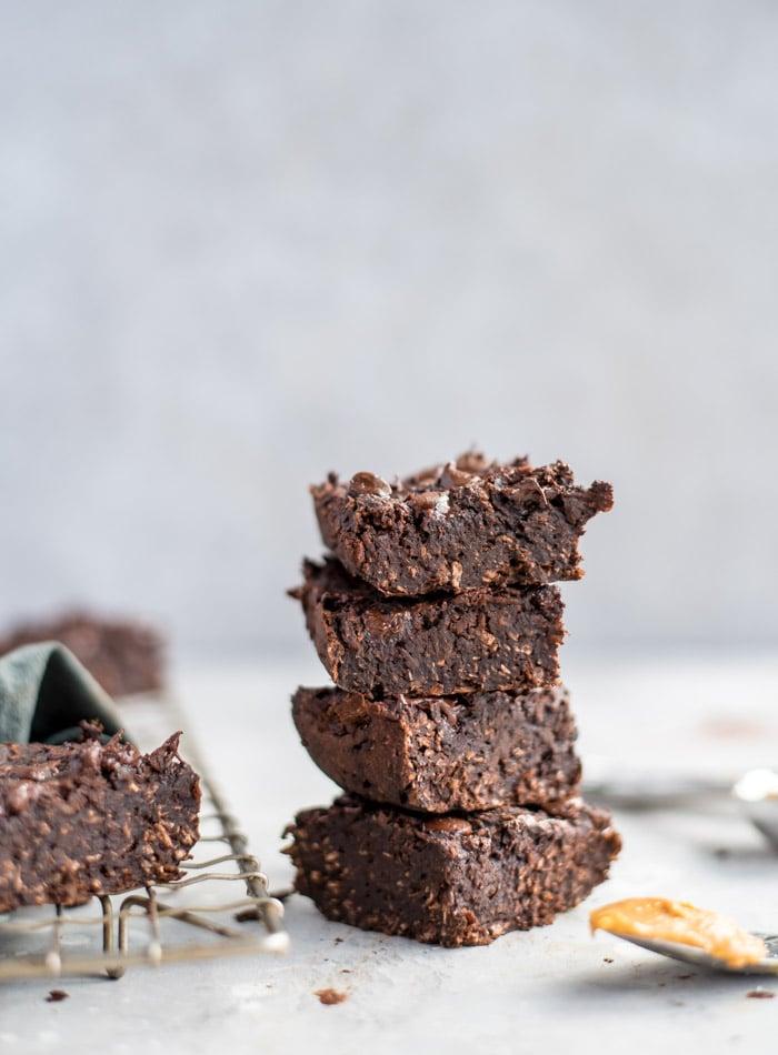 Vegan Coconut Chocolate Brownies - Running on Real Food