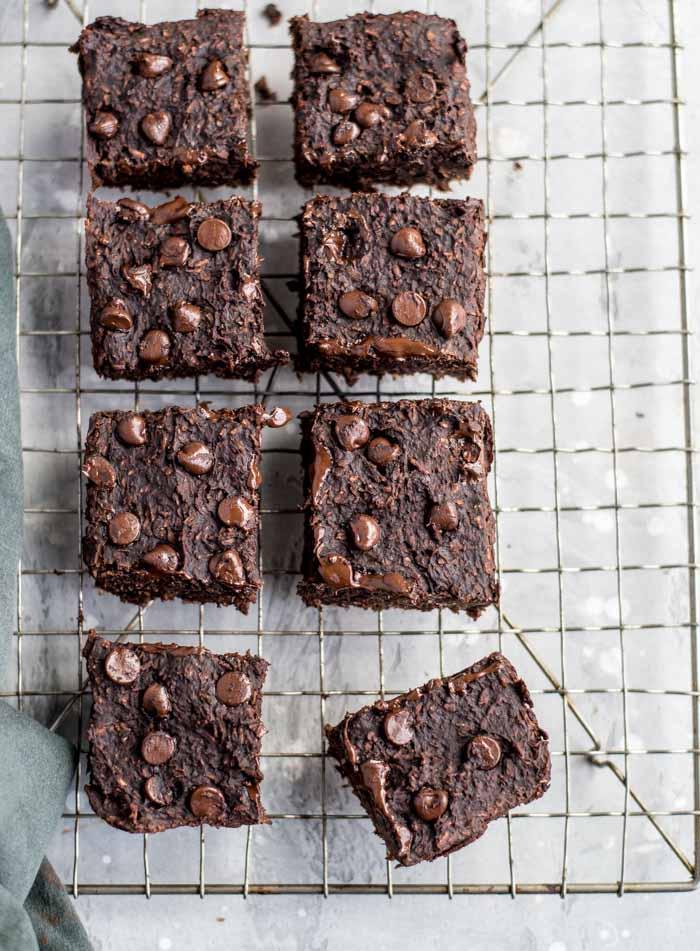 Vegan Chocolate Coconut Brownies - Running on Real Food