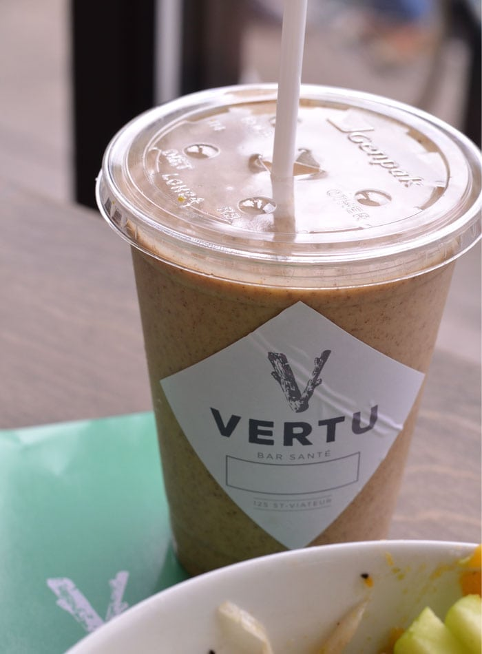 smoothie vertu health bar montreal