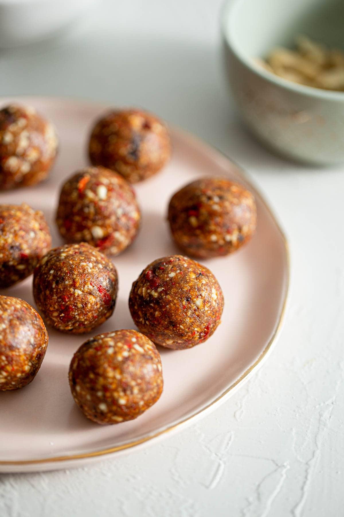 Vanilla Cacao Goji Berry Balls Recipe Running On Real Food