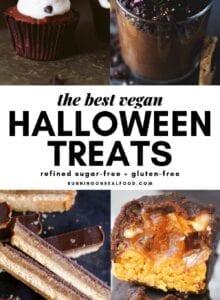 Pinterest graphic for homemade Halloween treats.