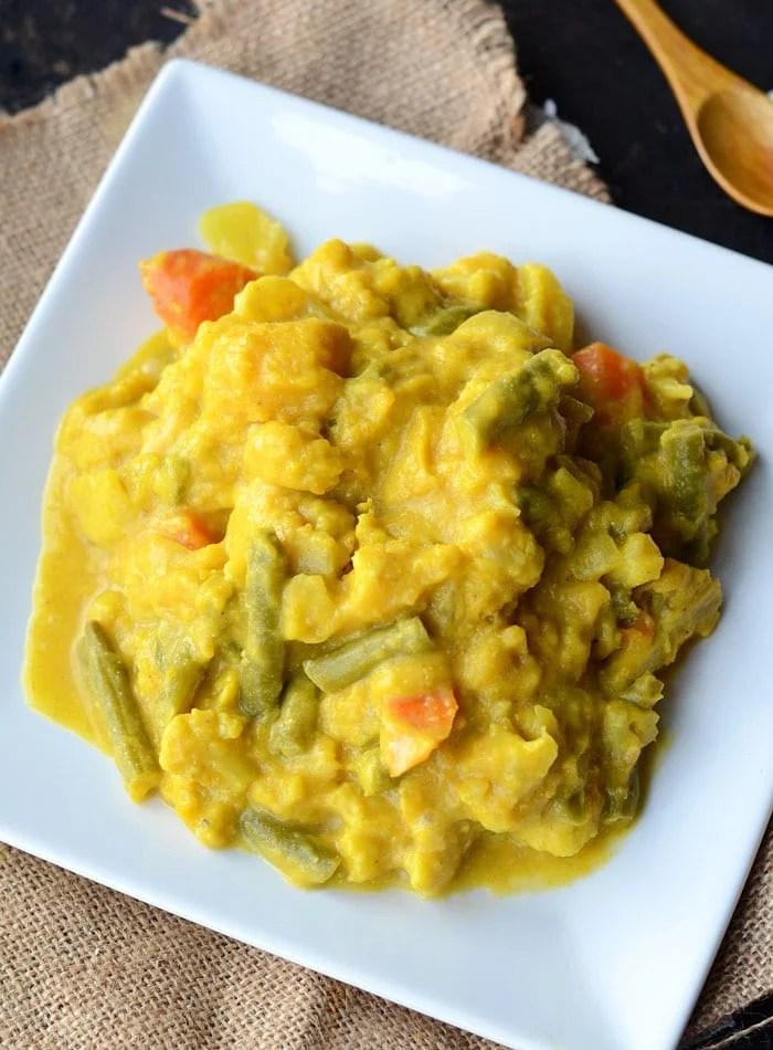Slow Cooked Curried Butternut Squash Stew - Vegan, Healthy, Gluten-Free