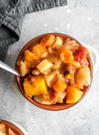 Healthy Slow Cooker Root Vegetable Stew - Running on Real Food