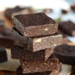 No-Bake Vegan Peppermint Mocha Brownies