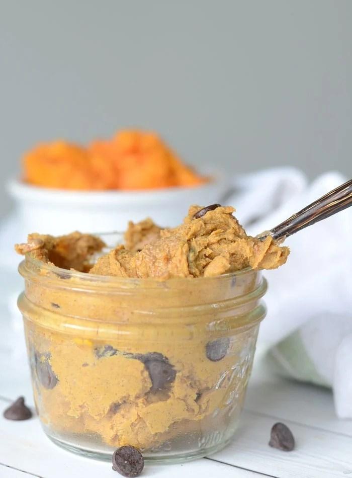2-Ingredient Vegan Protein Cookie Dough for Breakfast