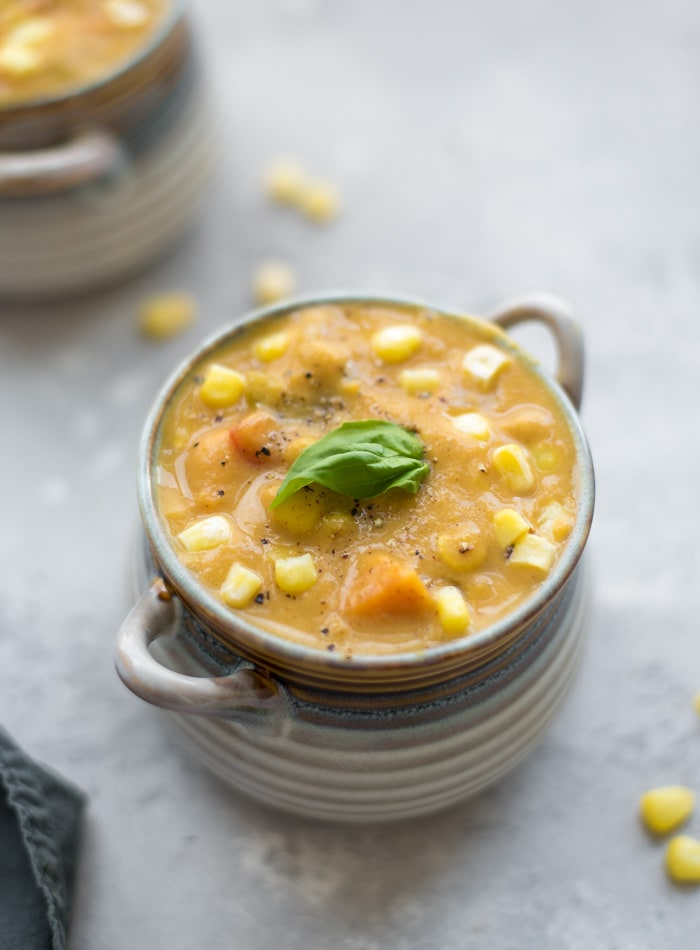 Sweet Potato Corn Chowder - Running on Real Food