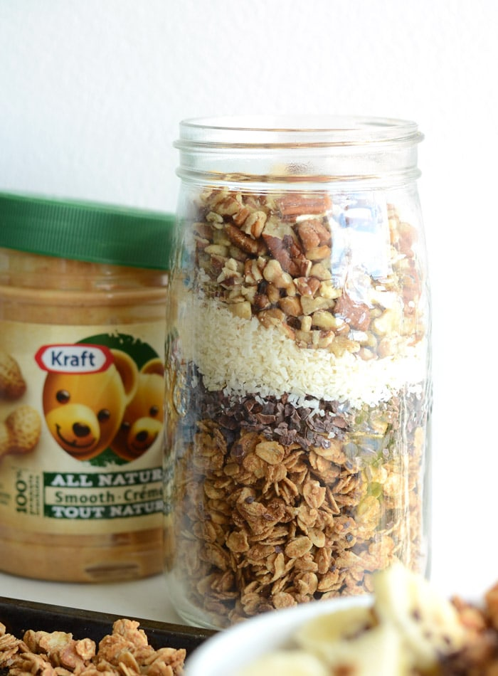 To further customize this granola, you can make it with any of the Kraft All-Natural Peanut Butters: Smooth, Crunchy, Sea Salt or Honey!