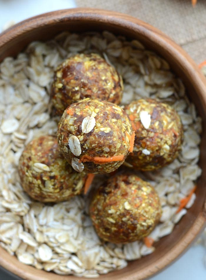 Raw Vegan Carrot Cake Energy Balls