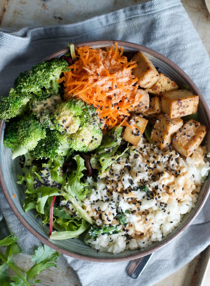 Coconut Cauliflower Rice Buddha Bowl