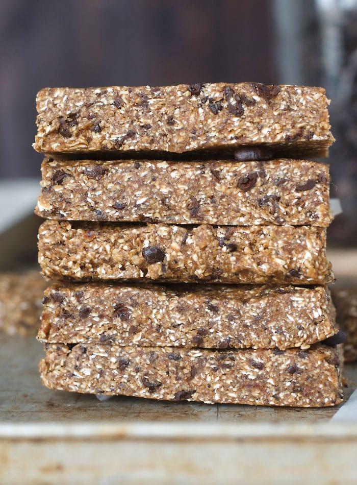 No-Bake Vanilla Espresso Date Energy Bars | Vegan, Gluten-Free, Oil-Free, No Added Sugar