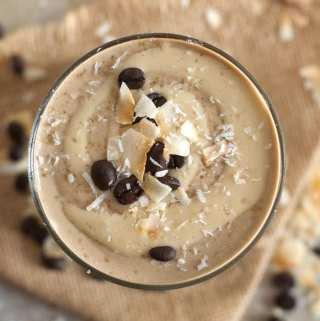 Vanilla Coconut Cashew Latte Smoothie   vegan, high in protein   Running on Real Food