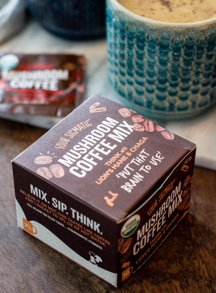 Box of mushroom coffee.